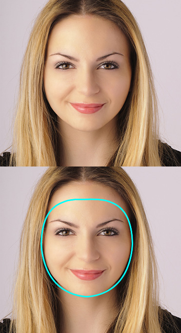 Women\'s oval face shape
